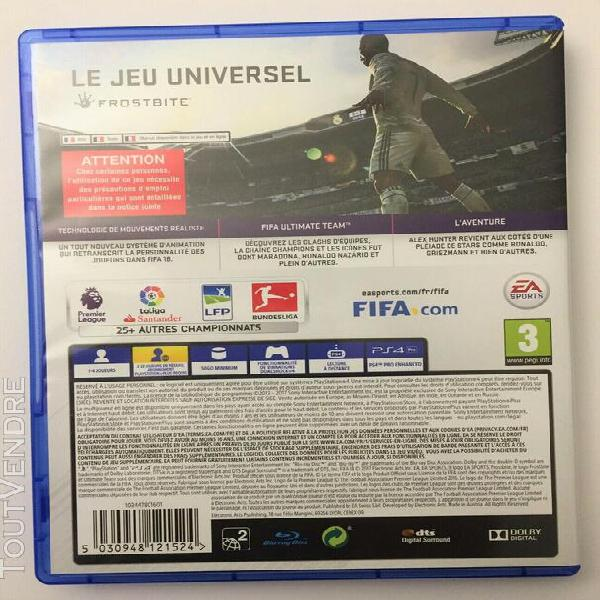 Fifa 2018 ps4 jeu playstation 4 ea sports electronic arts tr