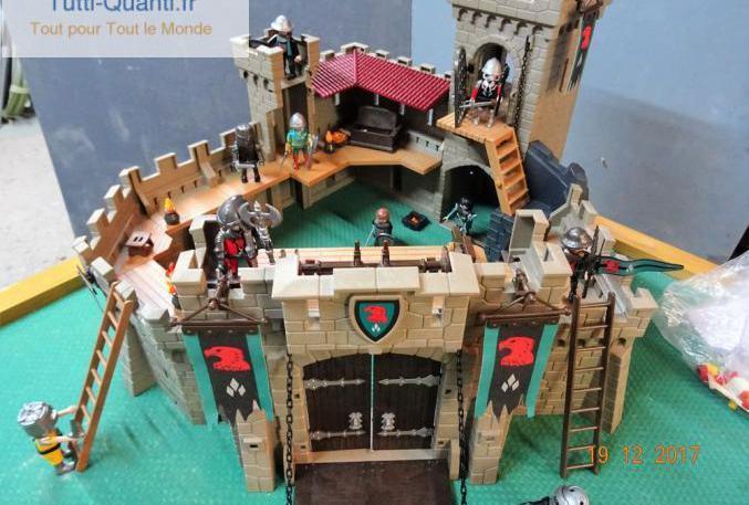 Forteresse playmobil 4866 chevalier, catapult...