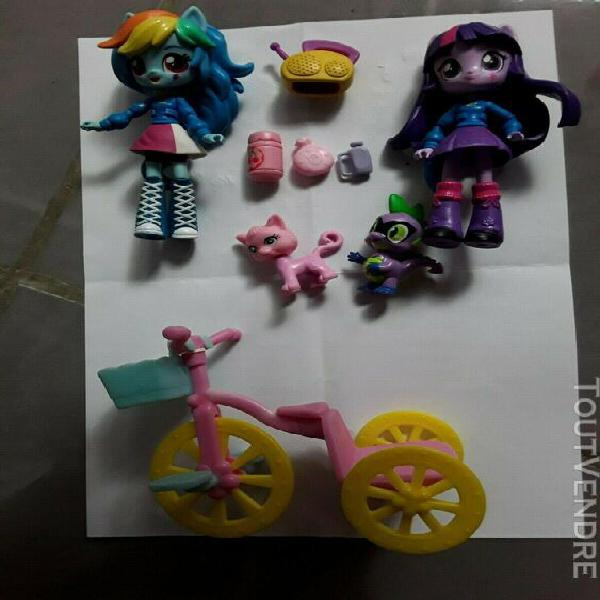 Lot figurine my little pony equestria girl mini doll + petit