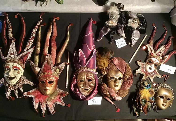 Masques et magnets carnaval venise, décoratifs occasion,