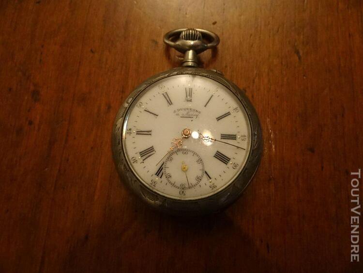 montre chrono en argent 1917 duquesne a nancy remontoir cyl