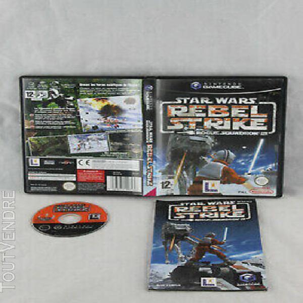 Star wars rebel strike squadron iii nintendo game cube gc (r