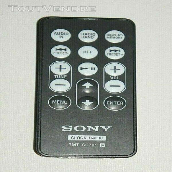 Télécommande sony rmt-cc7ip => radio-réveil dream machine