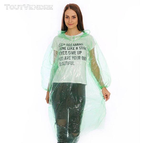Transparent hommes femmes veste à capuche neutre pe