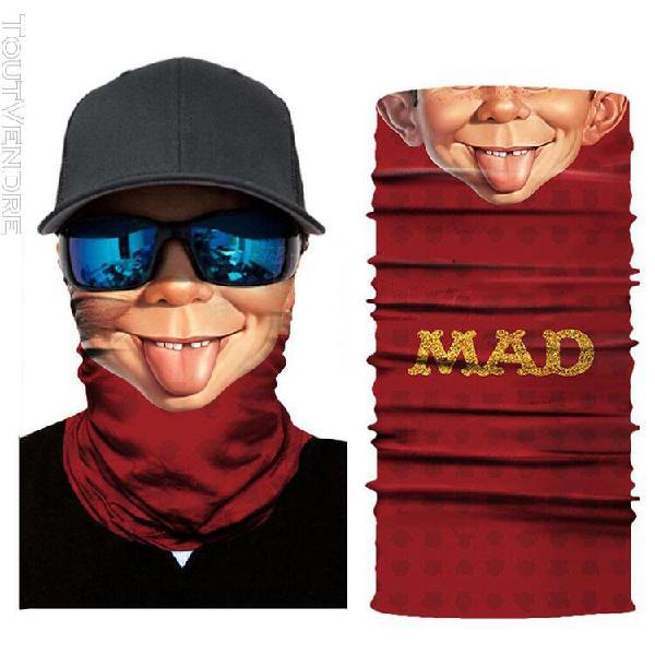 Uapavmp masque facial de ski de moto de plein air de tube de