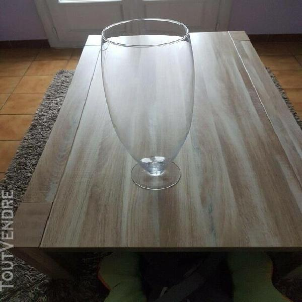 Vase en verre,verre décoratif benni h.50cm d.17cm conique