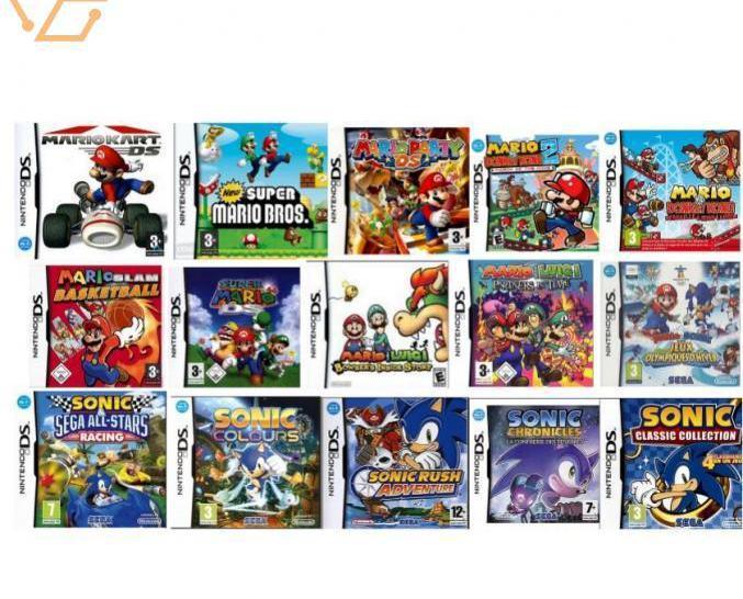 482 jeux nintendo ds sonic mario + autres jeu...