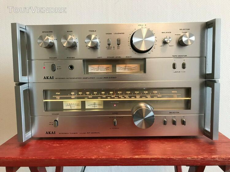Akai am-2350 stereo integrated amplifier + akai at-2250l fm/