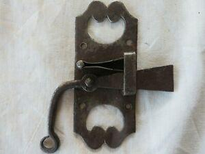Ancien verrou targette a bascule en fer forge