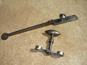 Ancienne poignee + targette loquet serrure de porte fer