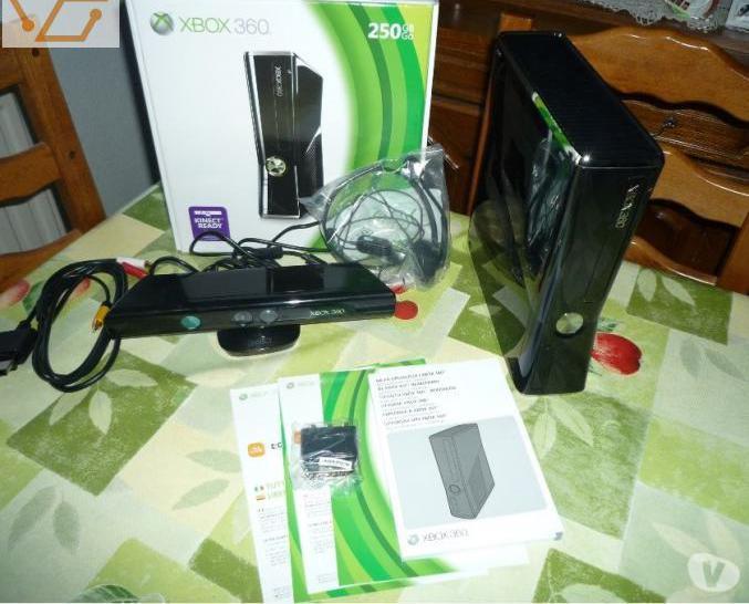 Console xbox360 noir 250go + 6 jeux + kinect