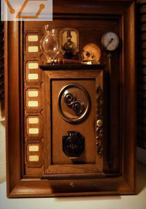 """Grand tableau""""boite à clefs""""steamp..."""