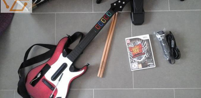 Guitare héros jeux et accessoires sur wii