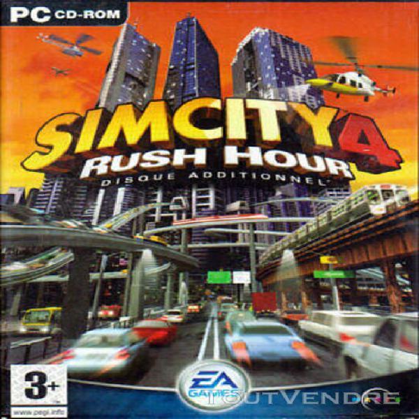 Jeu pc cd rom./...simcity 4....rush hour.../...disque additi