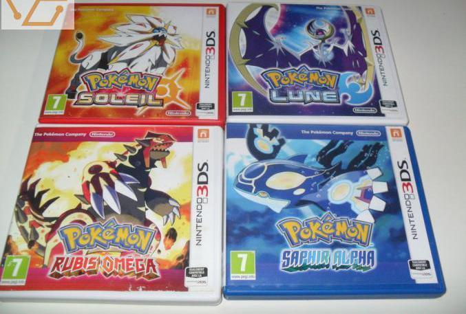 Jeux pokemon ds3 le lot