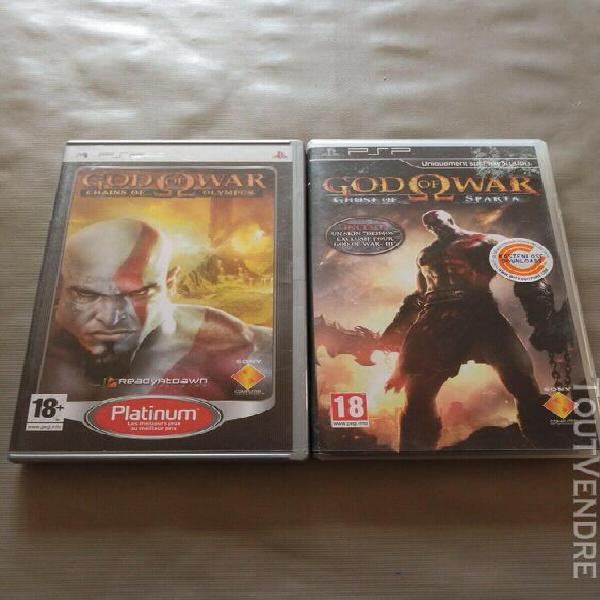 Lot god of war chains of olympus et ghost of sparta psp tres