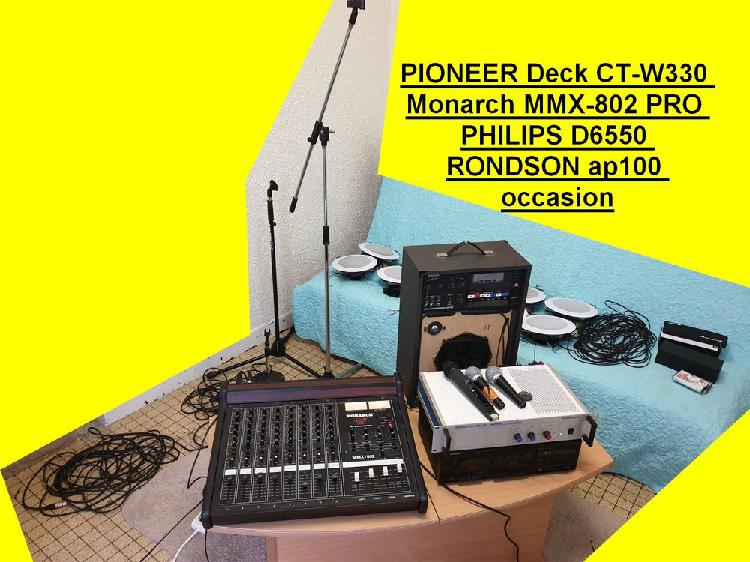 Pioneer deck ct-w330 monarch mmx-802 pro philips d6550 ronds