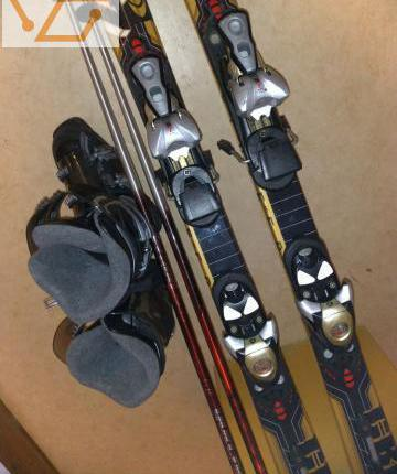 Ski salomon +ski rossignol +baton chaussures...