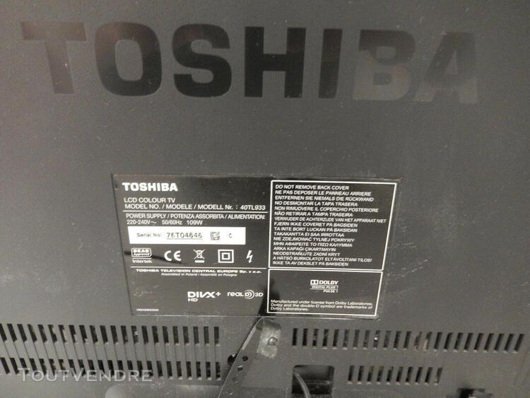 Télévision 3d toshiba full hd - 40tl933 + 2 paires de