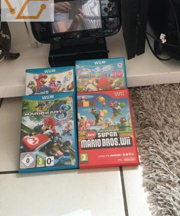 Wii u noire, jeux neuf