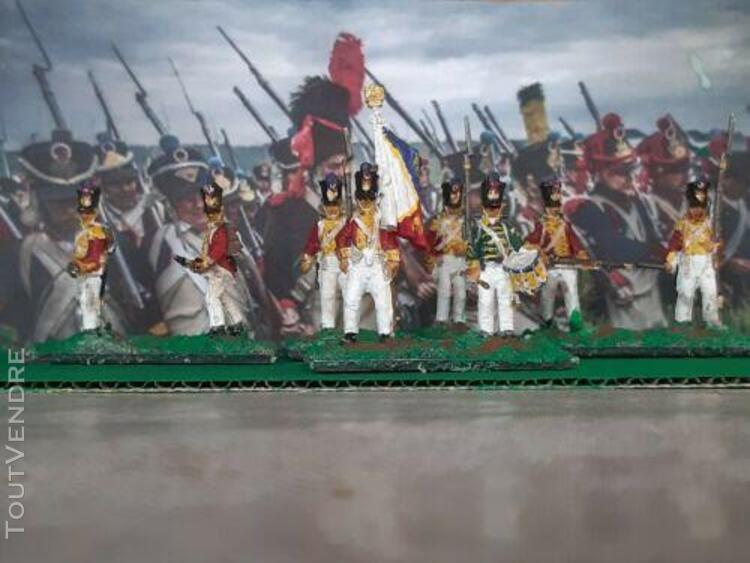 1/72 8 soldats 1 er regiment suisse peint et socles