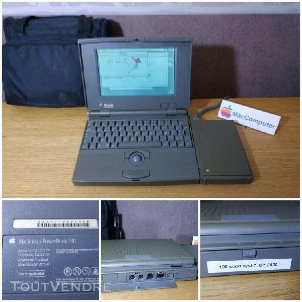 1er portable macintosh powerbook 100 +lecteur