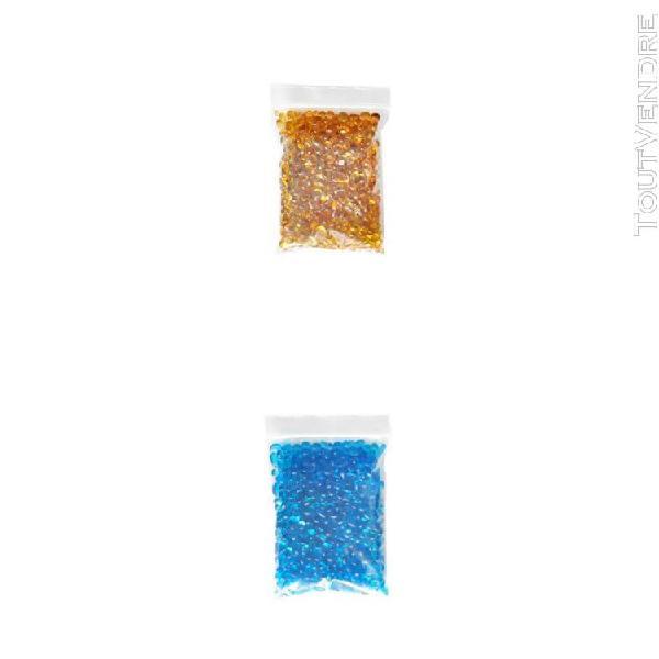 2x aquarium verre mini pierres fish tank gravier sable