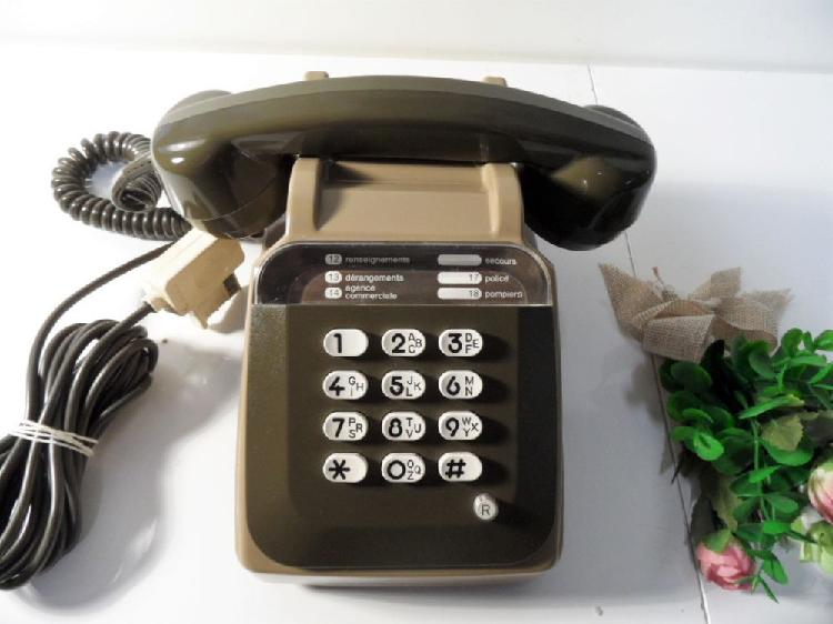Ancien telephone a touches vintage socotel s63 ptt occasion,