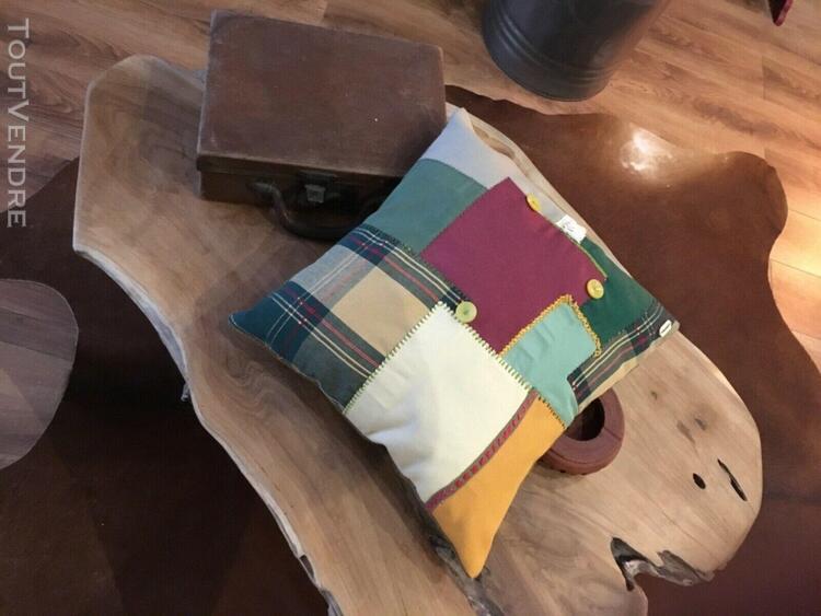 Coussin d'interieur gaia original patchwork taille 38/38