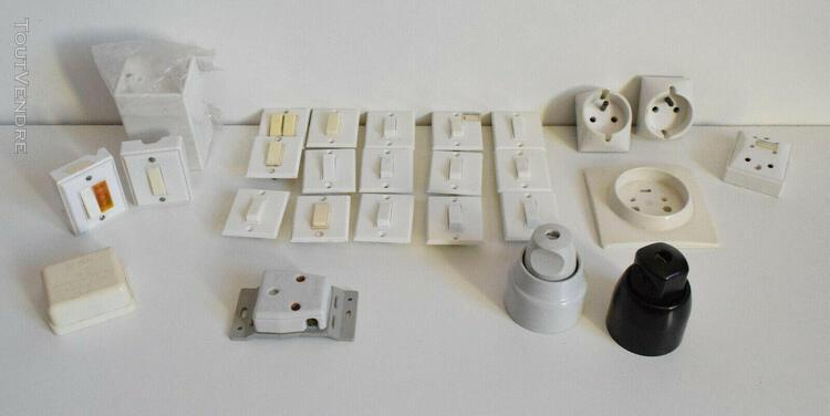Interrupteurs legrand mistral + supports + prises + dériv..