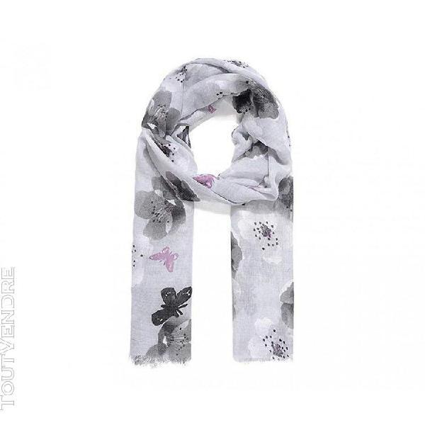 Intrigue - foulard butterfly blossom - femme (gris) - utjw17