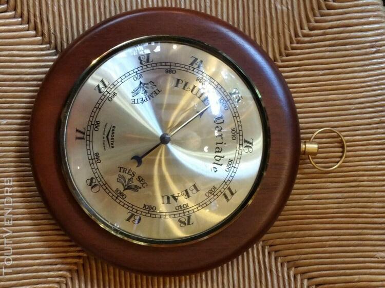 Joli baromètre tour en bois marque barostar instrument de