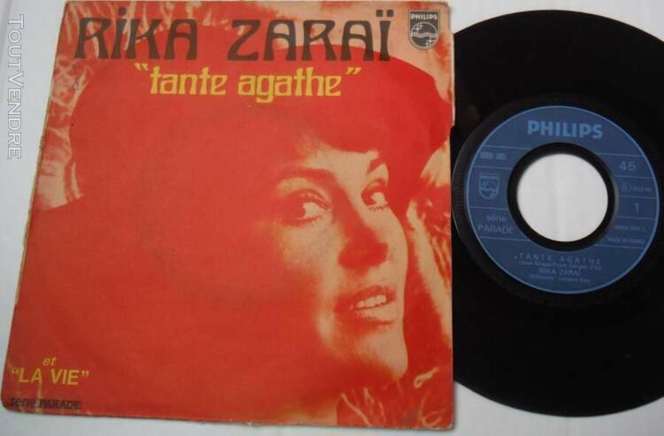 """Lot 7 records 45 rpm 7"""" 45 tours ep sp juke box rika zarai"""