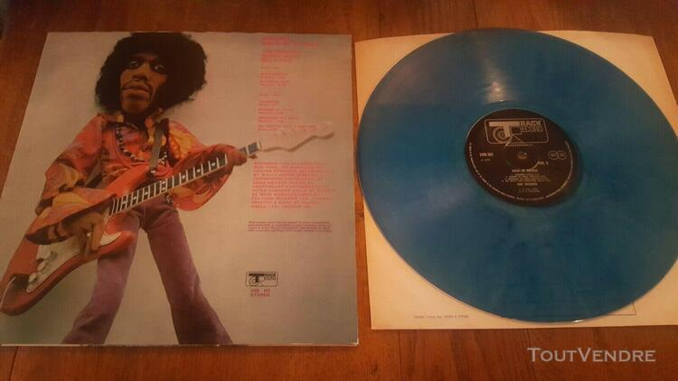 Lp jimi hendrix band of gypsys track couleur bleu rare etat