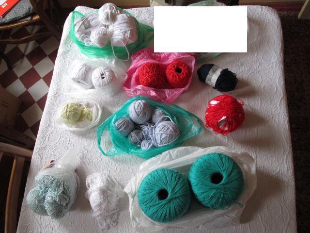 Pelotes de coton et de laine occasion, herblay (95220)
