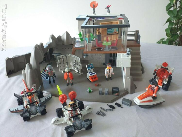 Playmobil ref 4875 la grande base des agents secrets top age