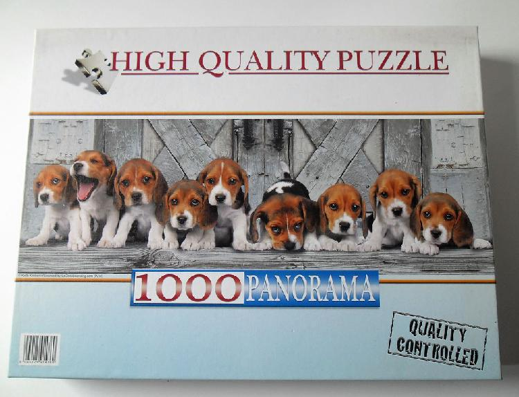 Puzzle neuf - 1000 pieces - adorables chiots neuf/revente,