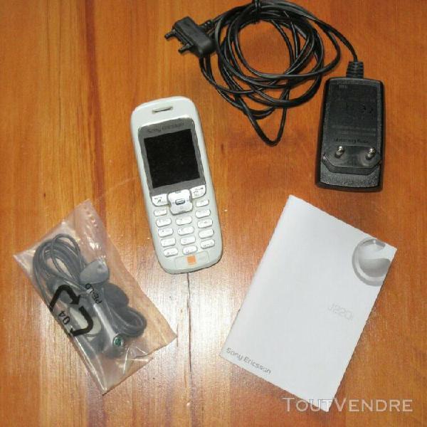 Téléphone sony ericsson j220i, débloqué, libre