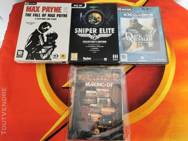 3 jeux pc max payne 2 + sniper elite integrale + dark messia