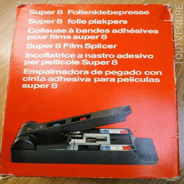 Agfa gevaert super 8 film splicer klebepresse f 8s automatic