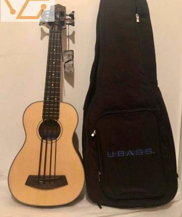 Basse ukulele kala ubass-ssmhg-fs solid spruc...