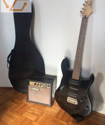 Guitare electrique et amplificateur yamaha