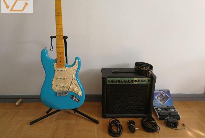 Guitare électrique et amplificateur