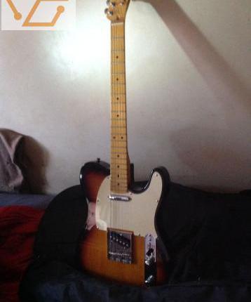 Guitare telecaster jim forest en etui
