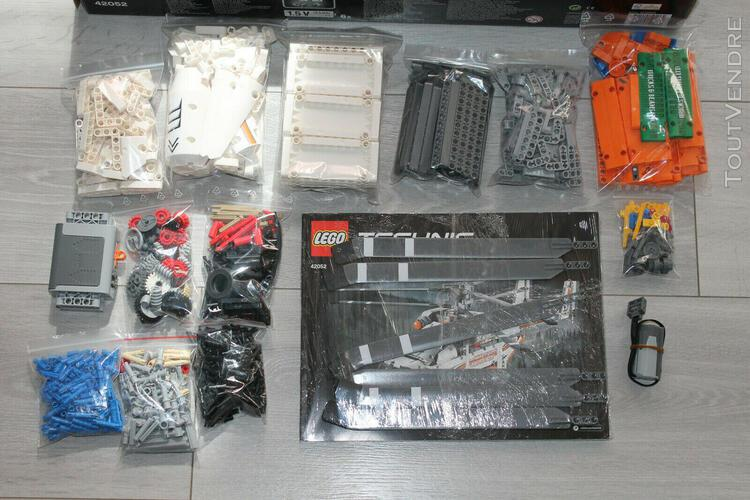 Lego - technic - 42052 - l'hélicoptère de transport -