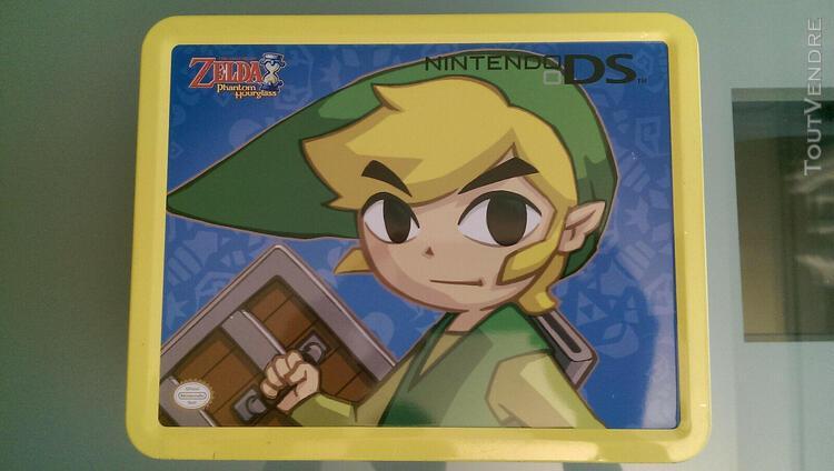 Nintendo ds lite boite box case zelda phantom hourglass set