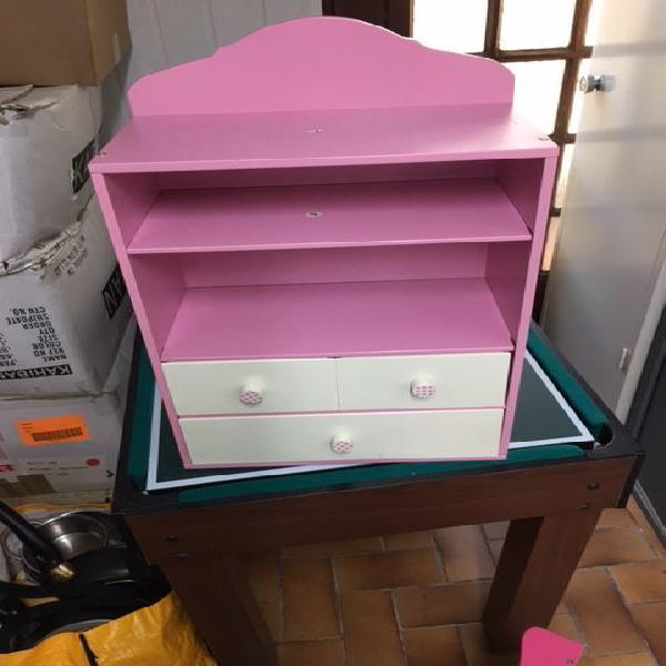 Petite armoire enfant rose/blanc casse neuf/revente,