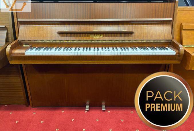 Piano droit rameau 114 acajou en pack premium