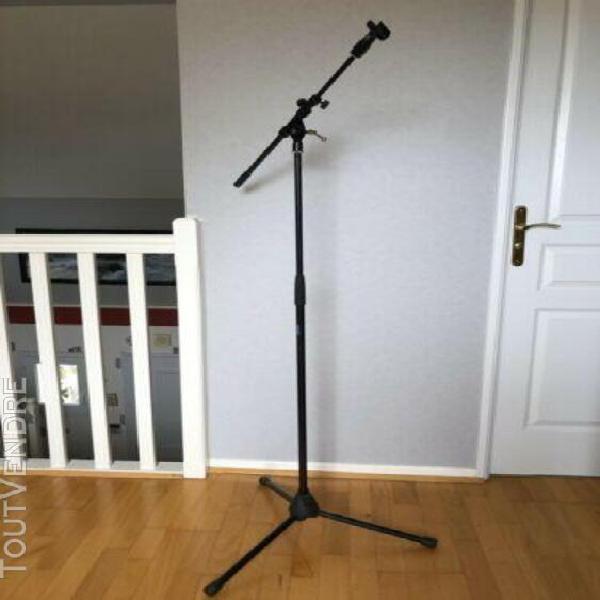 Pied microphone avec pince de micro hauteur ajustable 94-162