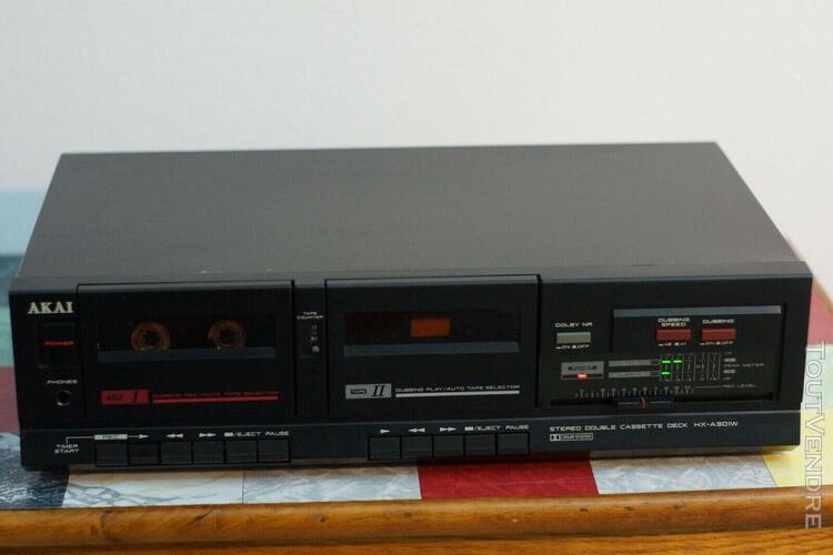 "Platine double cassette ""akai hx-a310w"" double tapedeck / d"